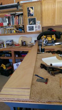 Making the scarf joints on a Chesapeake 17L