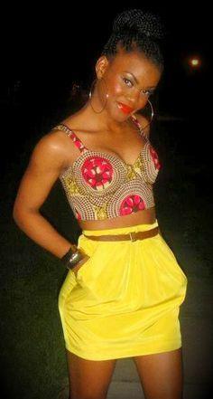 too cute ~African Prints, African women dresses, African fashion styles, African… African Dresses For Women, African Attire, African Wear, African Women, African Outfits, African Inspired Fashion, African Print Fashion, Africa Fashion, African Prints