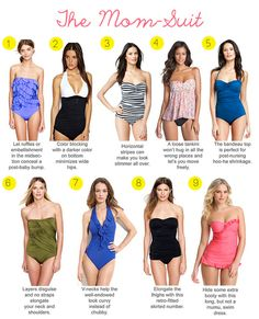 best swimsuits for different bodies - especially moms