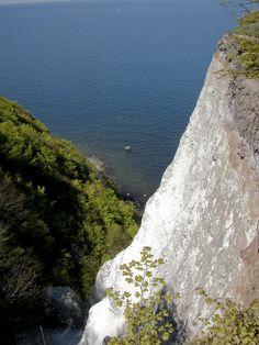 Chalk cliffs Germany in Jasmund National Park on Rugen Island on the Baltic Sea