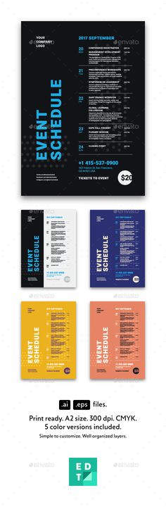 Schedule Event Poster Template AI, EPS Flyer Templates - event schedule template