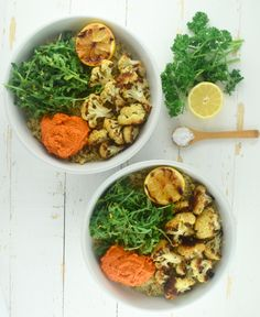 Quinoa Bowls with Romesco Sauce + Roasted Cauliflower | What Annie's Eating