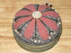 vintage flower pin cushion