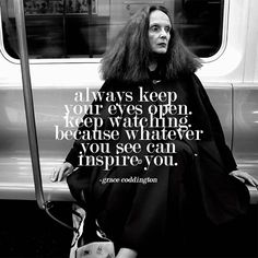 """Whatever you see can inspire you."" #vintageclothing #inspired #gracecoddington"