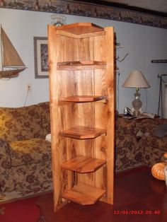 corner cabinet made out of pallets