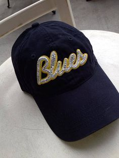 St. Louis Blues Bling hat Custom made...you by MonogramRevolution, $32.00