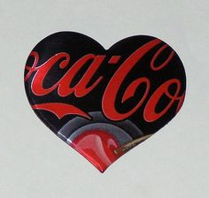 Heart Magnet  Cherry Coca Cola Soda Can by SodaCanBuddies on Etsy, $2.00