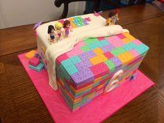 Lego Friends cake - chocolate cake w/ vanilla buttercream, raspberry filing & chocolate ganache! 1st Birthday Cakes, 9th Birthday Parties, Lego Birthday Party, 8th Birthday, Birthday Ideas, Lego Friends Cake, Lego Friends Birthday, Lego Friends Party, Girls Lego Party