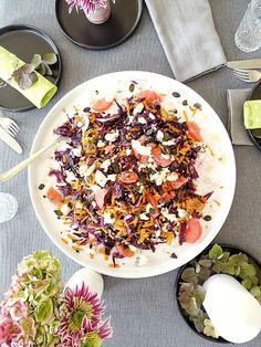 """Auf der """"mammilade""""_n-Seite des Lebens, Rotkohl-Salat"""