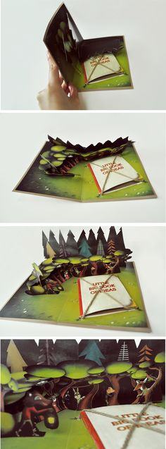 Pop-up Book- Unique Booklet with Rope Ties