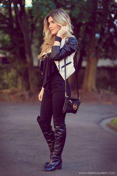 Meu look com bota Over the Knee |  Michael Kors Bag |
