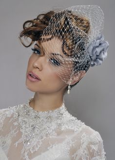 Custom For Lavon Wedding Veil Handmade Silver Birdcage With Rose And Swarowski Crystals Made To Order