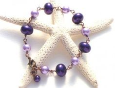 Handmade Purple Pearl Bracelet