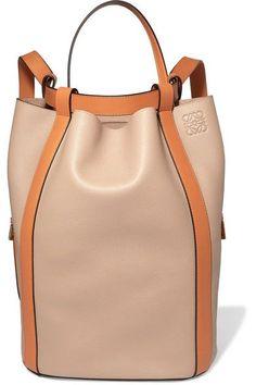 LOEWE MIDNIGHT TWO-TONE LEATHER BACKPACK. #loewe #bags #leather #backpacks | ♦F&I♦