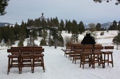 My winter snow wedding