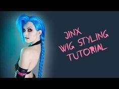 Jinx Wig Styling Tutorial - YouTube