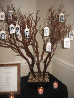 I made this Memorial Tree for my class reunion in memory of my classmates who have passed in the last 30 years.