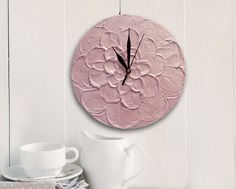 Items similar to PEACH WALL CLOCK unique Wedding Gift, Flower Home Decor Floral wall decor Housewarming contemporary gift for mother wood clock on Etsy Handmade Wall Clocks, Unique Wall Clocks, Wood Clocks, Office Wall Clock, Peach Walls, Unique Wedding Gifts, Peach Flowers, Floral Wall, Handmade Crafts