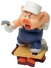 "Three Little Pigs - Practical Pig - ""Work and play don't mix"" Retired Edition 9/98"