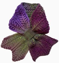 Rodekool brioche scarf: Knitty Deep Fall 2010