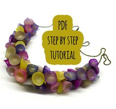 PDF tutorial / Polymer clay sea flowers and colours