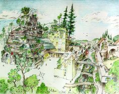 Ecocity (Concept Sketch by Richard Register)