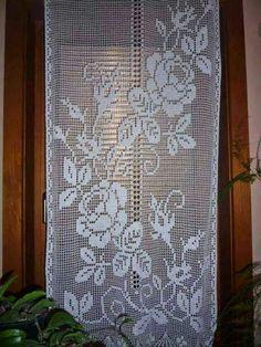 Prde Crochet Doily Rug, Crochet Curtains, Crochet Doily Patterns, Knit Crochet, Knitting Patterns, Filet Crochet Charts, Point Lace, Needlework, Cross Stitch