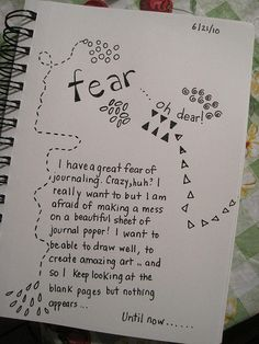 Creative Journaling  - Get over the fear of perfection