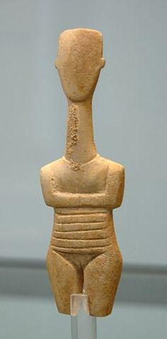 Figurilla de mujer embarazada (tercer milenio a. C.  // cultura cicládica