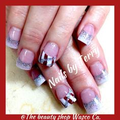 Candycane nails, Christmas nails