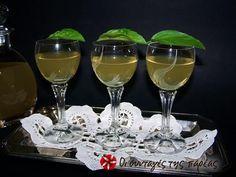 Λικέρ βασιλικού #sintagespareas Greek Beauty, Greek Recipes, Altered Art, White Wine, Wine Glass, Alcoholic Drinks, Homemade, Ethnic Food, Crete