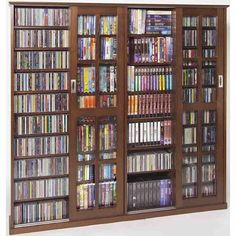 Leslie Dame Double CD,DVD Wall Rack Media Storage In Walnut | Furniture |  Pinterest | Gardens, Wall Racks And Home