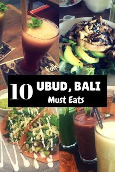 Ten highly-recommended places to eat at in Ubud, Bali. #bali #ubud #foodie #travel #indonesia #smoothies