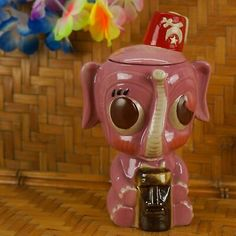 Enchanted Version Red Coral Seahorse Tiki Mug by Munktiki Imports