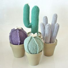 "Crocheted cactus. Una forma alternativa de decorar tu hogar con plantas ""naturales""."
