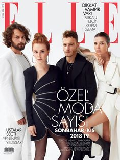Male Fashion Trends: Elle Turquía Septiembre 2018 Selma Ergec, Movie Crafts, Esra Bilgic, Elcin Sangu, Prettiest Actresses, Male Fashion Trends, Movie Couples, Actrices Hollywood, Elle Magazine