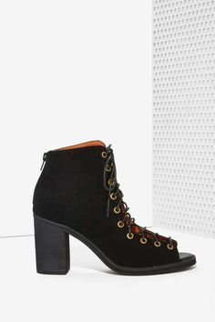 Jeffrey Campbell Cors Bootie - Black Suede - Shoes