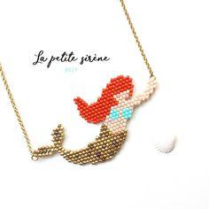 Le diagramme de « La petite sirène » est ENFIN sur le blog Mieux vaut tard que jamais! #madebylucette #motiflululalucette #motifariel #jenfiledesperlesetjassume #miyuki Beaded Necklace Patterns, Seed Bead Patterns, Peyote Patterns, Beading Patterns, Beaded Jewelry, Beading Projects, Beading Tutorials, Crochet Case, Mermaid Diy