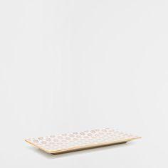 PLAT RECTANGULAIRE PORCELAINE FLEURS - Plats - Table | Zara Home France
