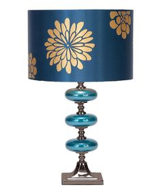 Take a look at this Blue Chrysanthemum Triple-Disk Table Lamp by Illuminate the Room: Decorative Lamps on #zulily today!