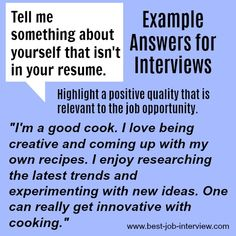 "How to answer ""Tell me something about yourself that isn't on your resume"" #interviews"