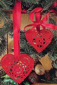 Coeurs décoratifs et leurs grilles gratuites , au Crochet ! - Crochet Passion