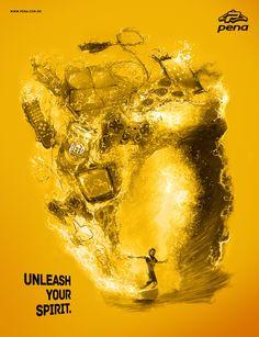 Pena Surfwear: Routine     Unleash your spirit.  Advertising Agency: Hermandad, Brazil
