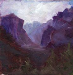 Purple Yosemite Study. $50.00, via Etsy.