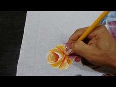 """Roberto Ferreira   Pintura Rosas sem desenhar ( 2 Parte) """" Passo a Passo. - YouTube"""