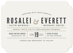 wedding invitations - Classic Type by Pistols