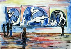 x 400 mm Unframed R 2 800 SOLD Matisse, Dancers, Disney Characters, Fictional Characters, Past, Gallery, Painting, Past Tense, Roof Rack