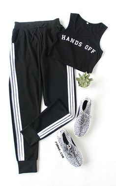 Sport Styel -  Black Striped Side Sweat Pants