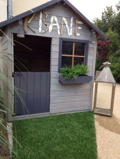 maisonnette enfant bois - #bois #enfant #maisonnette Garden Pool, Kids House, Play Houses, Home Projects, Playground, Pergola, Sweet Home, Shed, Backyard