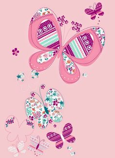 All about surface pattern ,textiles and graphics: Butterflies